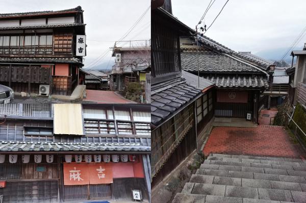 急な階段の一番上から6層の建物が下に広がって行きます。