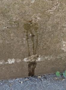片足立ちで壁面にMonsterEnergyのロゴを描くこと