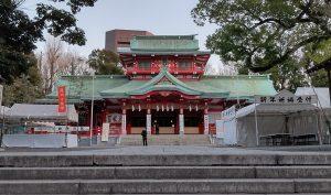 小寒の今朝の富岡八幡宮です