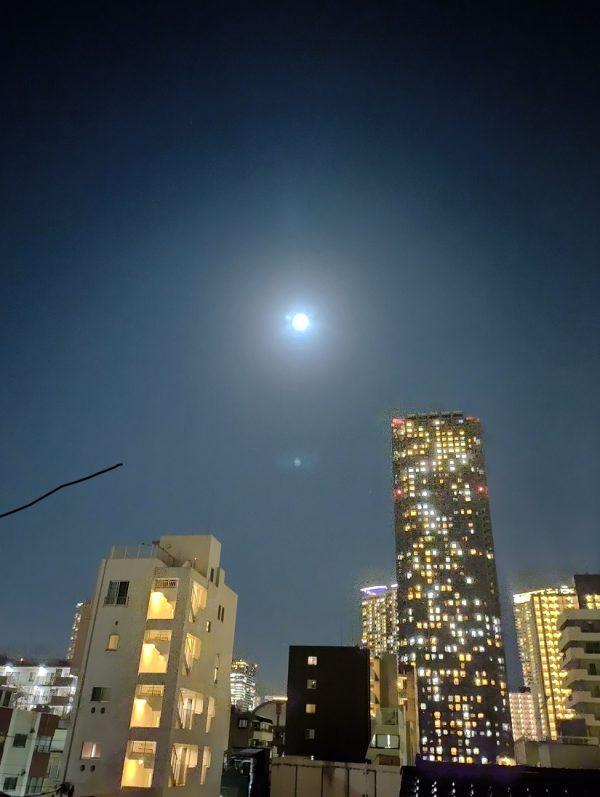 自宅から見た十五夜の月です。