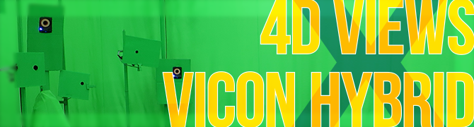 4D Views × Vicon Hybrid撮影